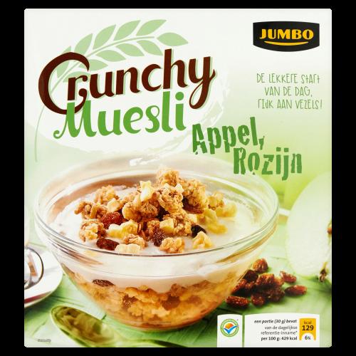 Crunchy Muesli Appel,Rozijn 500g