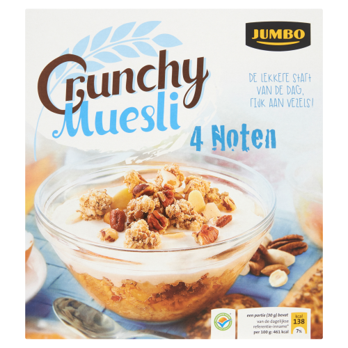 Crunchy Muesli 4 Noten 500 g