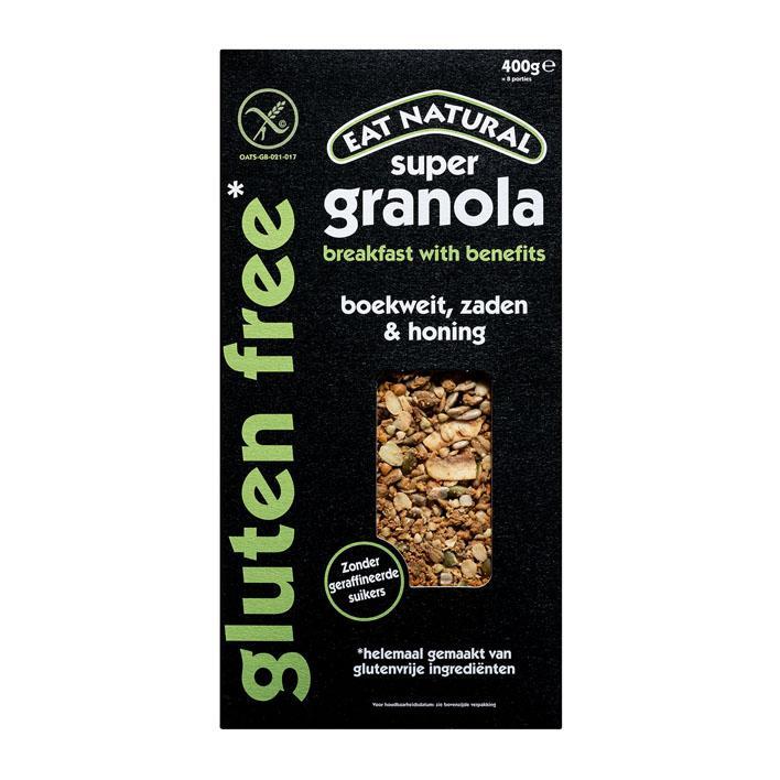 Glutenvrij Super Granola Boekweit,Zaden & Honing