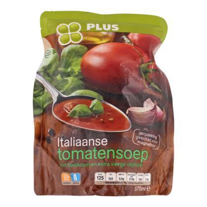 Italiaanse tomatensoep met basilicum