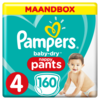 Pampers Baby-Dry Pants S4 160 Luierbroekjes Luchtdoorlatende Banen Maandbox