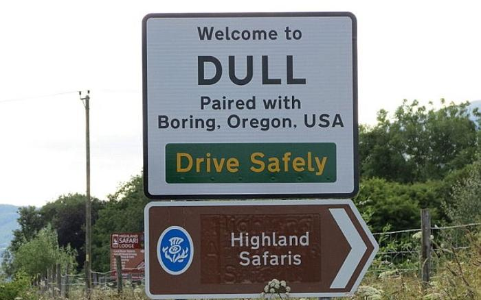 Dull, Boring and Bland celebrate tourist links