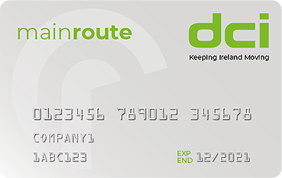 DCI Main Route fuel card