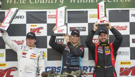 Christina Nielsen racerkører vandt sin første sejr i USA