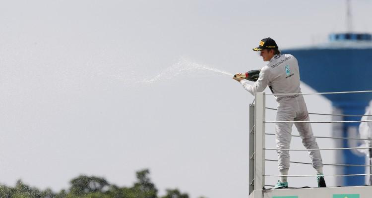 2014 Brazilian Grand Prix Sunday Nico Rosberg Podium Celebrations Venue / Date: Not entered / 09.11.2014