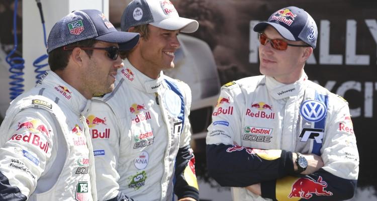 Sébastien Ogier (F), Andreas Mikkelsen (N), Jari-Matti Latvala (FIN) WRC Rally Australia