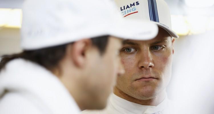Valtteri Bottas med Felipe Massa