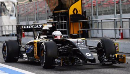 Kevin Magnussens Formel 1 test 2016