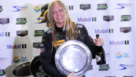 Christina Nielsen podium Sebring