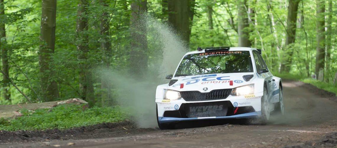 Esben Hegelund og Karsten Isaksen kørte den 3. sejr hjem i år, og fører nu Autoplus Dansk Super Rally med maksimumpoint