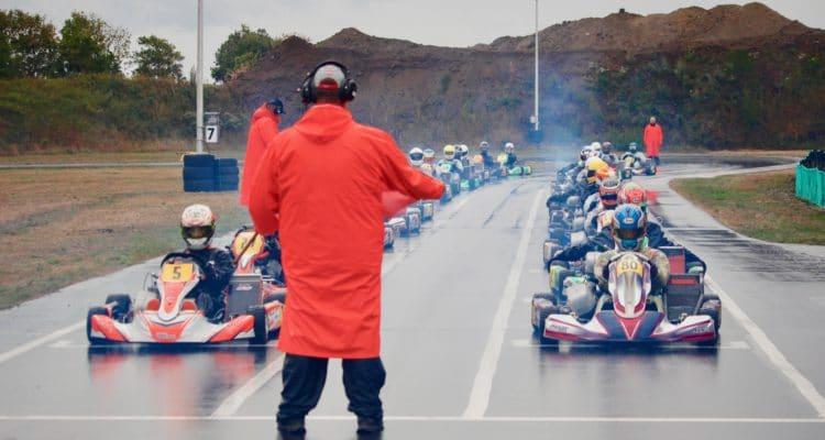 Klar til start til DSK DIF DM på Midtjysk Karting Klubs bane 2018