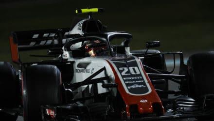 Kevin Magnussen i Abu Dhabi GP 2018