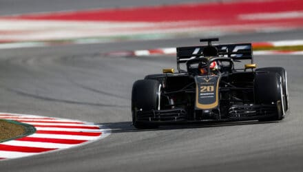 Kevin Magnussen under F1-test Barcelona 2019