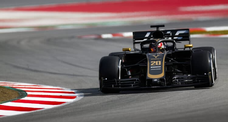 Kevin Magnussen under F1-test Barcelona 2019