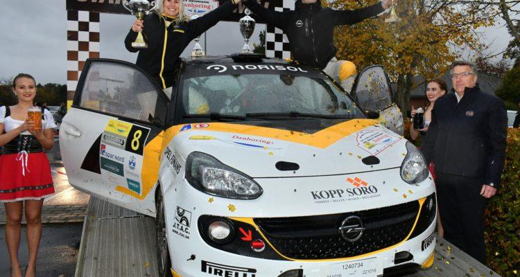 Jacob Madsen og Line Lykke Jensen blev bedst placeret blandt deltagerne i de internationale klasser, da Rally Denmark blev bedømt og godkendt af FIA i oktober. I 2017 får de mulighed for at gentage succesen, når Rally Denmark bliver en del af FIA Scandinavian Rally Trophy.