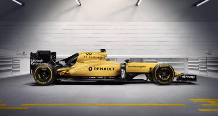 Kevin Magnussens Formel 1-racer fra Renault 2016
