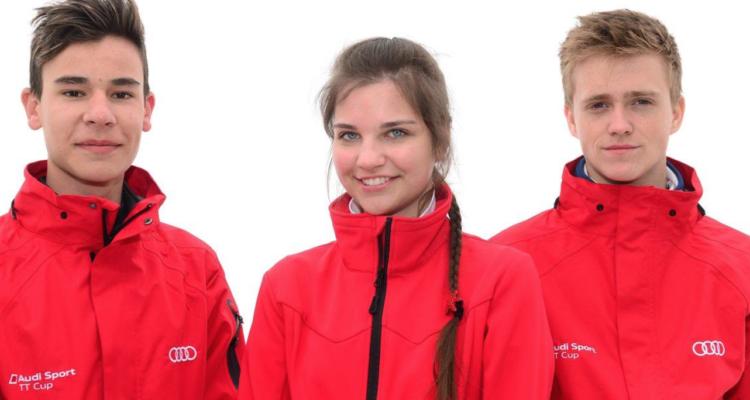 Sydafrikanske Sheldon van der Linde og ungarske Vivien Keszthelyi, sammen med Nicklas Nielsen (Foto: Audi)