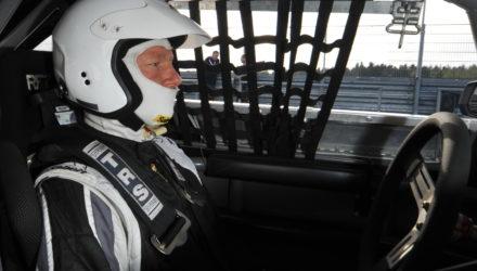 Kasper Aaskov har for det meste kørt historisk motorsport, men det er blevet til en enkelt optræden i DTC. Foto: DTC-net.dk.