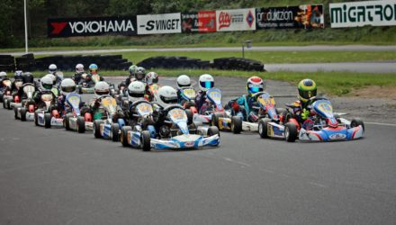 Starten går i Cadett Mini til Sjællandsmesterskaberne på Roskilde Racing Center. Foto: Khanh Phi Thai