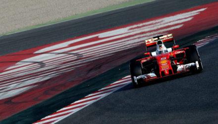 Vettel tester i Spanien