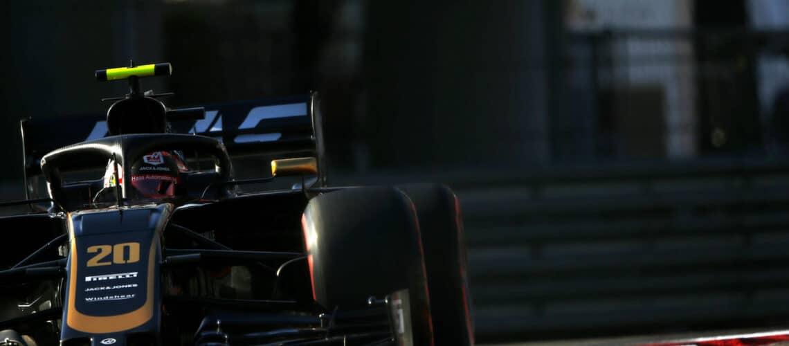 Kevin Magnussen i Sochi, 2019 Haas F1 Team