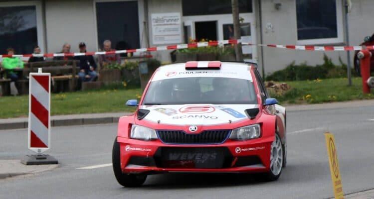 Kristian Poulsen/Ole Frederiksen i Cimbern Rallye/Autoplus Dansk Super Rally