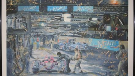 Et signeret og eksklusivt akvarelmaleri bliver nu auktioneret væk til fordel for Allan Simonsens mindefond.