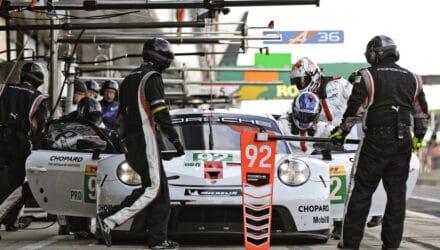 Michael Christensen på Silverstone. Foto: Porsche AG