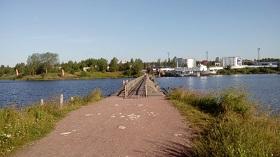 Деревянный мост через Вуоксу