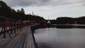Стоянка грузового флота в Монастырской бухте