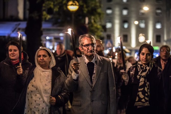 From the torchlight procession with the 2017 Rafto Laureates