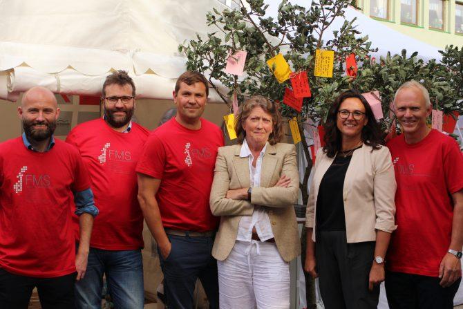 Møt direktørene på stand! Fra venstre: Jostein Hole Kobbeltvedt (Rafto), Eystein Markusson (Narvik), Christian Wee (Falstad), Guri Hjeltnes (HL-senteret), Ana Perona Fjeldstad (EWC) og Audun Myhre (Arkivet)