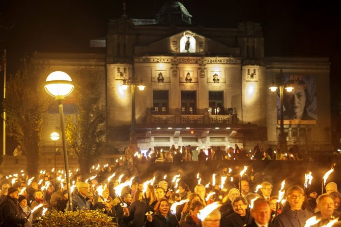 The torchlight procession for human rights