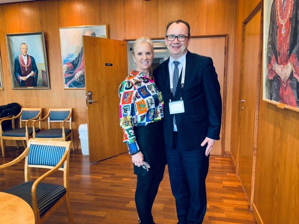 Kerry Kennedy and Laureate 2018 Adam Bodnar met at the Symposium to discuss challenges concernig human rights and rule of law.