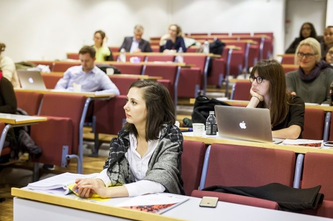 Together with the University of Bergen (UiB) and IHRB we arranged the first Master's course in Business and Human Rights for 20 students.