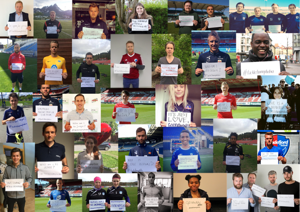 Tacklehomophobia collage