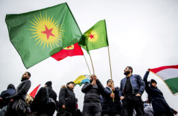 Demonstratie in Amsterdam tegen Turks offensief Afrin