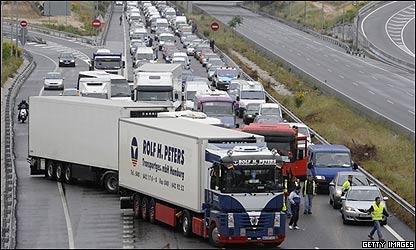 Huelga de transportistas