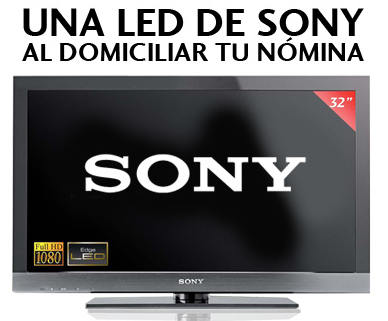 cuenta nomina banesto con tv sony led