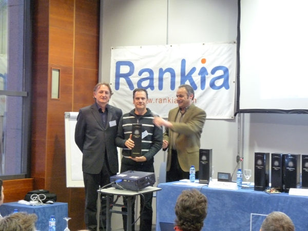 Recogida del premio por Lizpiz