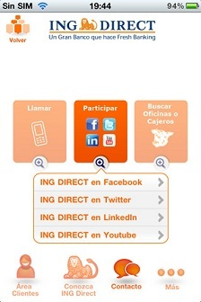 Ing direct espa a lanza su aplicaci n para ios aplicaci n for Horario de oficinas de ing direct en madrid
