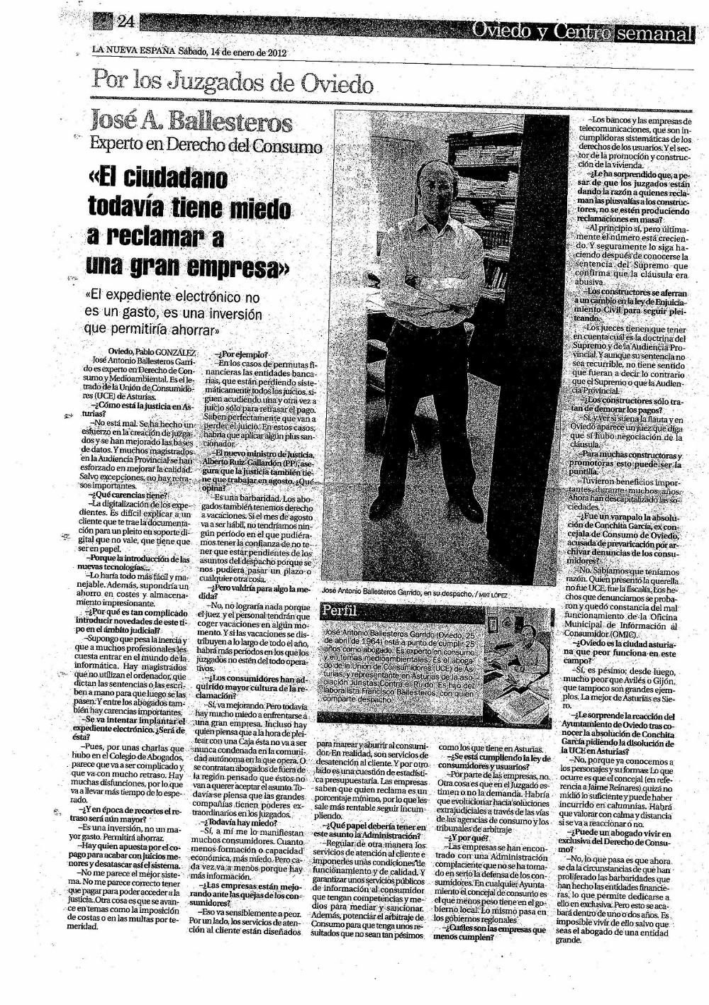 Entrevista José Antonio Ballesteros