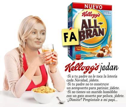 Andra Fabra desayunando Kellogs Jodan All-Fabran