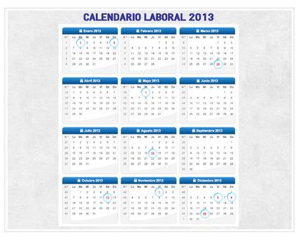 Calendario laboral 2013 foro