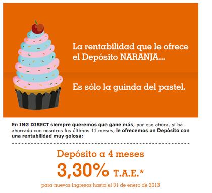Depósito Naranja al 3,3% TAE