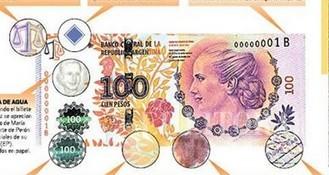 Nuevo billete de 100 pesos.