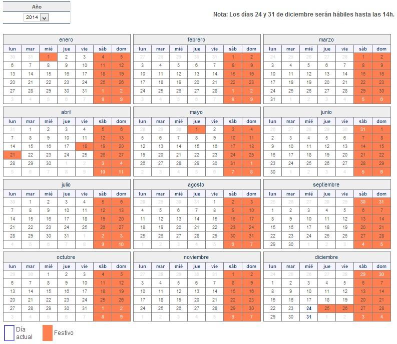 calendario bursátil bolsa española