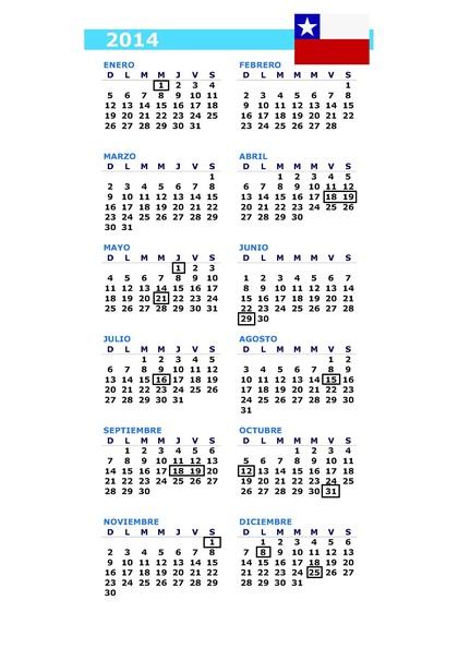 Calendario Chile 2019 Con Feriados.Calendario Dias Feriados Chile 2014 2 3 Rankia
