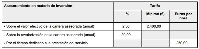 Zarate EAFI tarifas