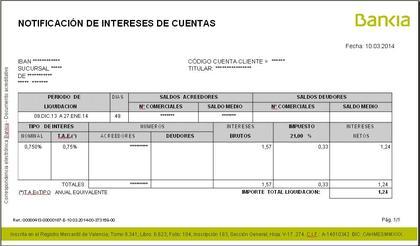 Liquidaci n libreta f cil bankia rankia for Bankia oficina por internet